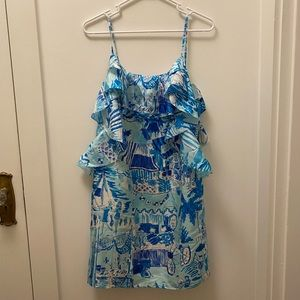 NWT Silk Lilly Pulitzer Dress- Catch of the Day